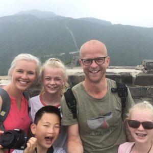 Met mijn gezin op de Chinese muur, zomer 2019.